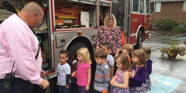 Fire prevention at Riverside Preschool
