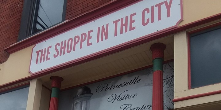 The Shoppe In The City storefront in Downtown Painesville