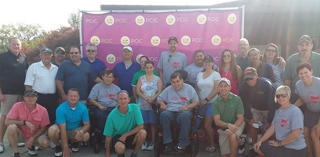 Golfers, LCESC Volunteers, Clients and family at the 2017 Inaugural Golf Outing